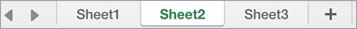 Excel의 시트 탭