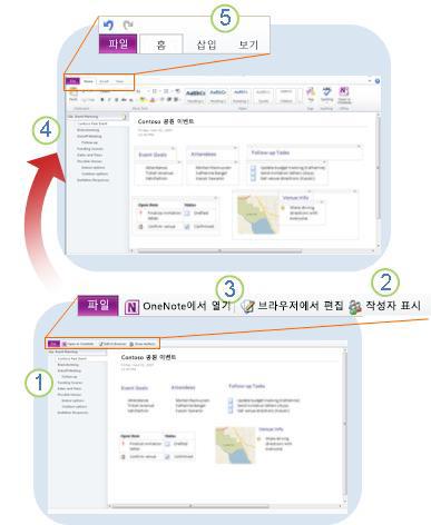 OneNote Web App 살펴보기