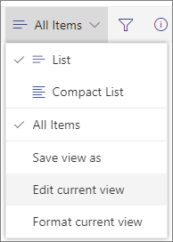 보기 옵션 메뉴 전환