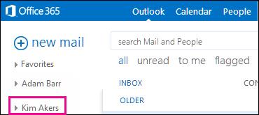 Outlook Web App에 표시된 공유 폴더