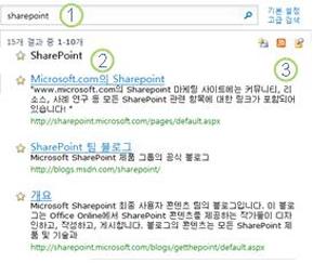 검색 결과 페이지 맨 위에 표시되는 SharePoint Server의 최상의 선택 3개