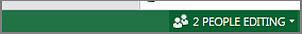 스프레드시트에서 공동 작업 중인 사용자의 수를 보여 주는 표시기