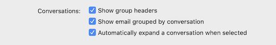 읽기 환경 설정에서 그룹 머리글 기본 설정 표시