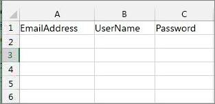 Excel 마이그레이션 파일의 셀 머리글