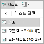 Android 테이블 텍스트 회전