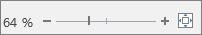 확대/축소 슬라이더를 사용하여 텍스트를 확대 또는 축소하는 모습