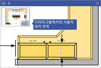 화면 왼쪽 위 모서리의 창 이동은 현재 다이어그램의 어디에 있는지를 추적하는 데 도움이 됩니다.