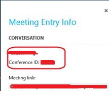 Screenshot 2 for Meeting Entry information
