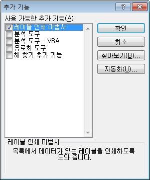 Excel Add-ins dialog box