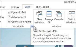 시각 보조 기능 대화 상자 표시 아이콘