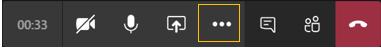 모임 컨트롤 - 강조 표시된 추가 작업 아이콘