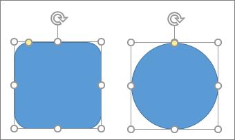 모양 변경 도구를 사용하여 도형 변경