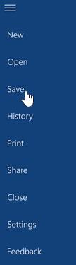 파일 메뉴