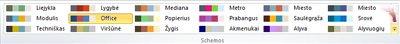 """Daugiau spalvų schemų programoje """"Publisher 2010"""""""