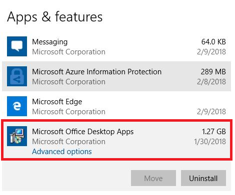 """""""Microsoft Office"""" kompiuterio taikomosios programos"""