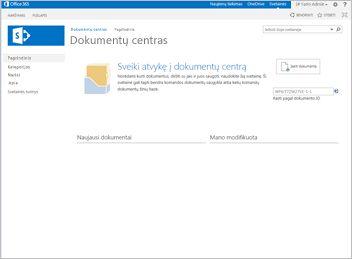 Dokumentų centro svetainės šablonas