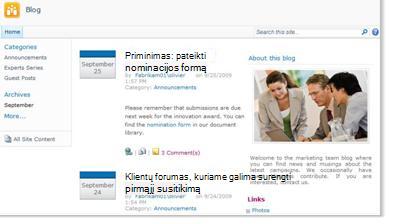 Internetinio dienoraščio svetainė