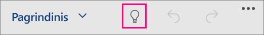 """Rodo piktogramą Ką norite daryti """"Office for Windows 10 Mobile"""""""