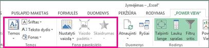 """Ataskaitų formatavimo įrankiai """"Power View"""""""