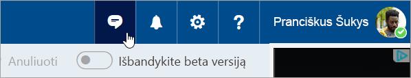 """Ekrano kopija, kurioje matyti mygtukas """"Skype"""""""