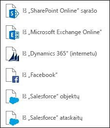 Gauti duomenis iš interneto paslaugų