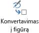 """Mygtukas konvertuoti į figūrą konvertuoja eskizą į """"Visio"""" figūrą"""