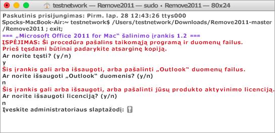 Paleisti įrankį Remove2011 naudodami CTRL + spustelėkite Atidaryti.