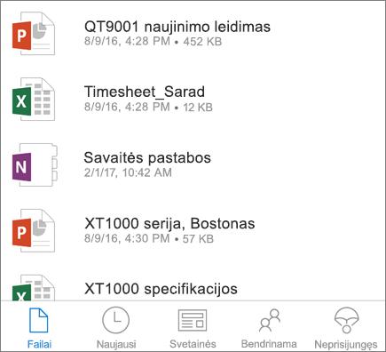 """OneDrive"" mobiliesiems įrenginiams"