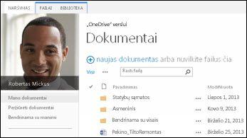 """SharePoint 2013"" ""OneDrive"" verslui"