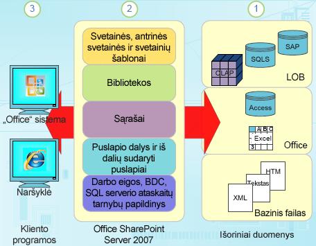 """Struktūrinių duomenų komponentai """"SharePoint"""""""