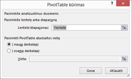 """""""PivotTable"""" atnaujinimas"""