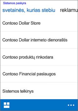 """""""iOS"""" svetainės stebėjimas"""