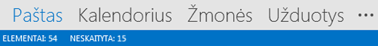 """Outlook"" naršymo juosta"