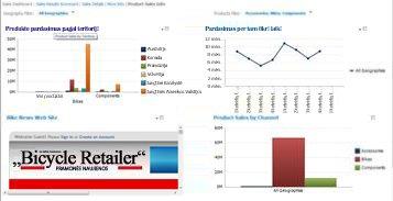 """""""PerformancePoint"""" ataskaitų sritis su 2 pritaikytais filtrais"""