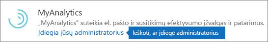 """Administratorius įdiegtas papildinys """"Outlook"""" parduotuvėje."""