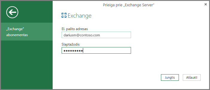 """Exchange"" kredencialai"