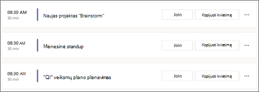 """""""Teams"""" darbotvarkės kalendoriaus ekrano nuotrauka nemokamai"""