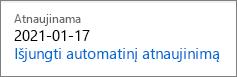 """Saito išjungimo autorenew už """"Office 365 Home"""" prenumeratos."""