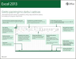 """""""Excel 2013"""" greito pasirengimo darbui vadovas"""