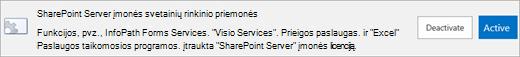 SharePoint Server įmonės svetainių rinkinio funkcijos aktyvinimas