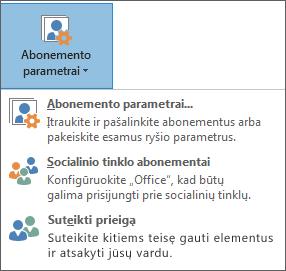 """Atstovo įtraukimo """"Outlook"""" ekrano nuotrauka"""