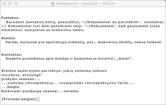 Paleiskite Dockutil įrankį naudodami CTRL + spustelėkite Atidaryti.