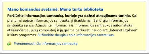 RSS informacijos santraukos Registruokitλs informacijos santraukos puslapį