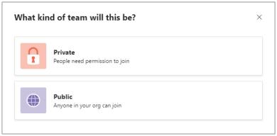 Viešoji arba privati nauja komanda