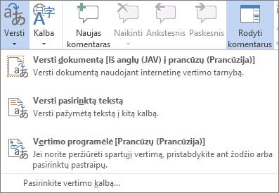 Dokumento arba laiško vertimas
