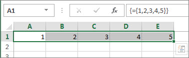 Vienmačio horizontalaus masyvo konstanta