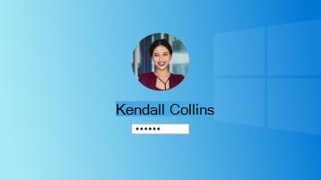 """""""Windows"""" prisijungimo puslapio vaizdas"""