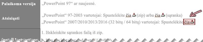 """""""LiveWeb"""" papildinio gavimas iš šio atsisiuntimo puslapio"""