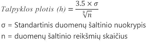 Automatinės parinkties formulė