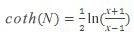 Hiperbolinio arkkotangento formulė